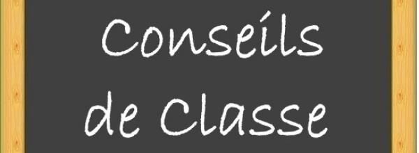 Conseils de classes du 2e trimestre